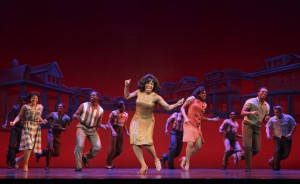 Patrice Covington as Martha Reeves (center) & Cast MoTOWN THE MUSICAL First National Tour (c) Joan Marcus, 2014