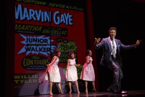 Jarran Muse as Marvin Gaye & Cast MoTOWN THE MUSICAL First National Tour (c) Joan Marcus, 2014