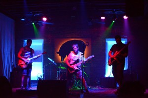 Photo by Jamie Galatas, Moonbase at Jacksonville Surf Fest, (L-R) George Asimakos, Chad Shivers, Eric Balint