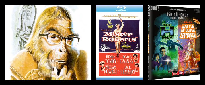 APES ON FILM: Mr. Roberts and The H-Man Battle In Outer Space!